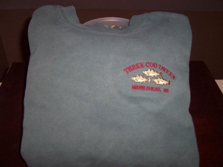 three cod sweatshirt